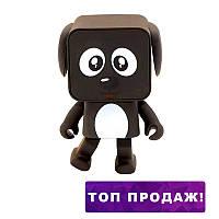 Bluetooth колонка Танцующая Собачка DANCING SPEAKER Dog черный голубой