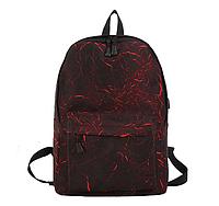 Рюкзак черный с красным с USB, фото 1