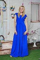 Платье в пол летнее синее, фото 1