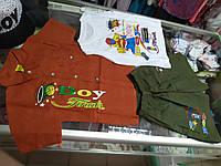 Костюм детский летний тройка Рубашка шорты майка р.92 - 116