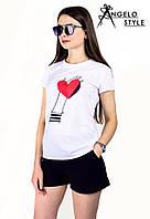 "Стильная футболка "" Сердце "" Angelo Style"