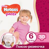Трусики Huggies Pants для девочек 6 (15-25 кг),  Pack 30 шт., фото 1