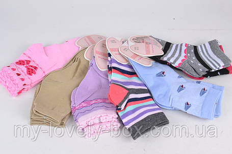 ОПТОМ.Детские Хлопковые носки на девочку (Aрт. BFL223/20-22)   12 пар, фото 2