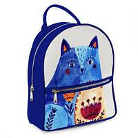 Городской женский рюкзак Синий кот