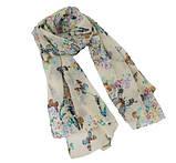 Женский шарф с бабочками - 142*42см, фото 2