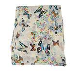 Женский шарф с бабочками - 142*42см, фото 3