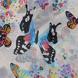 Женский шарф с бабочками - 142*42см, фото 4