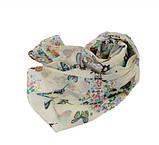 Женский шарф с бабочками - 142*42см, фото 5