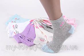 ОПТОМ.Детские Хлопковые носки на девочку (FE5852-2/7-8) | 12 пар, фото 2