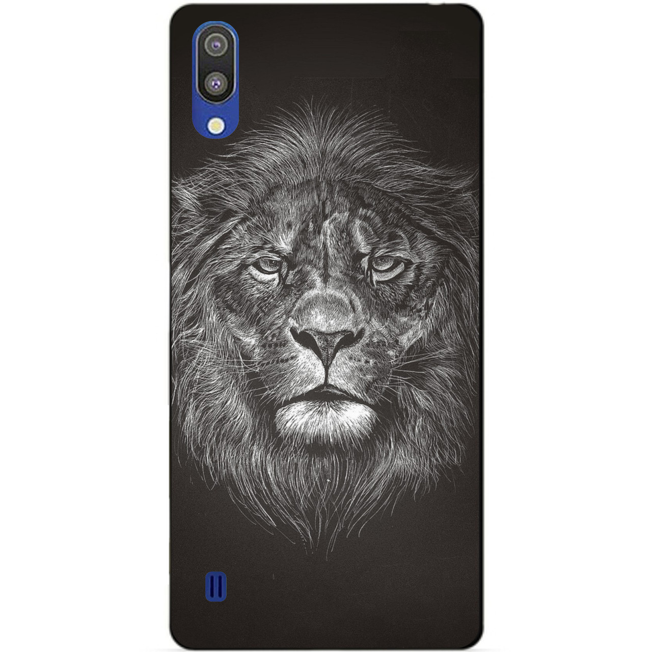 Чехол силиконовый для Samsung M10 2019 Galaxy M105f с рисунком Лев мелом