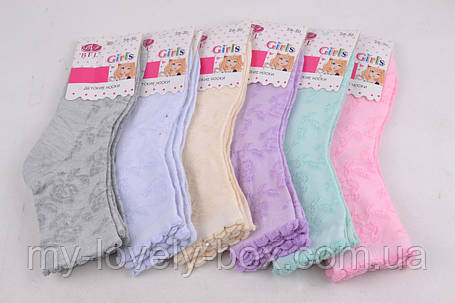 "ОПТОМ.Детские носки на девочку ""ХЛОПОК"" (C248/XL)   12 пар, фото 2"