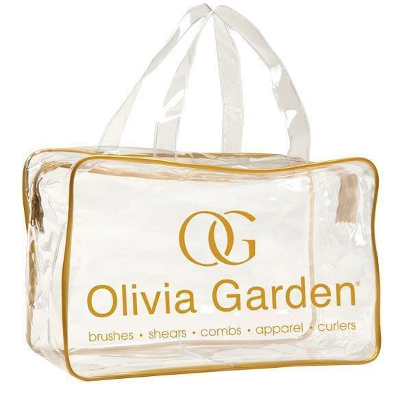 Olivia Garden Empty transparent PVC bag - Gold сумка для щіток
