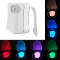 LED подсветка унитаза с датчиками освещенности и движения ВТВ, 8 цветов