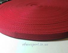 Ременная лента  10 мм, толщ. 1,5 мм цв. красный