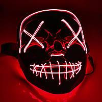 Неоновая маска из фильма Судная ночь ВТВ Purge Mask Красная