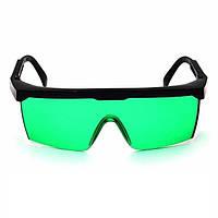 Очки зеленые усиливающие защитные ВТВ для лазерного гравера, уровня
