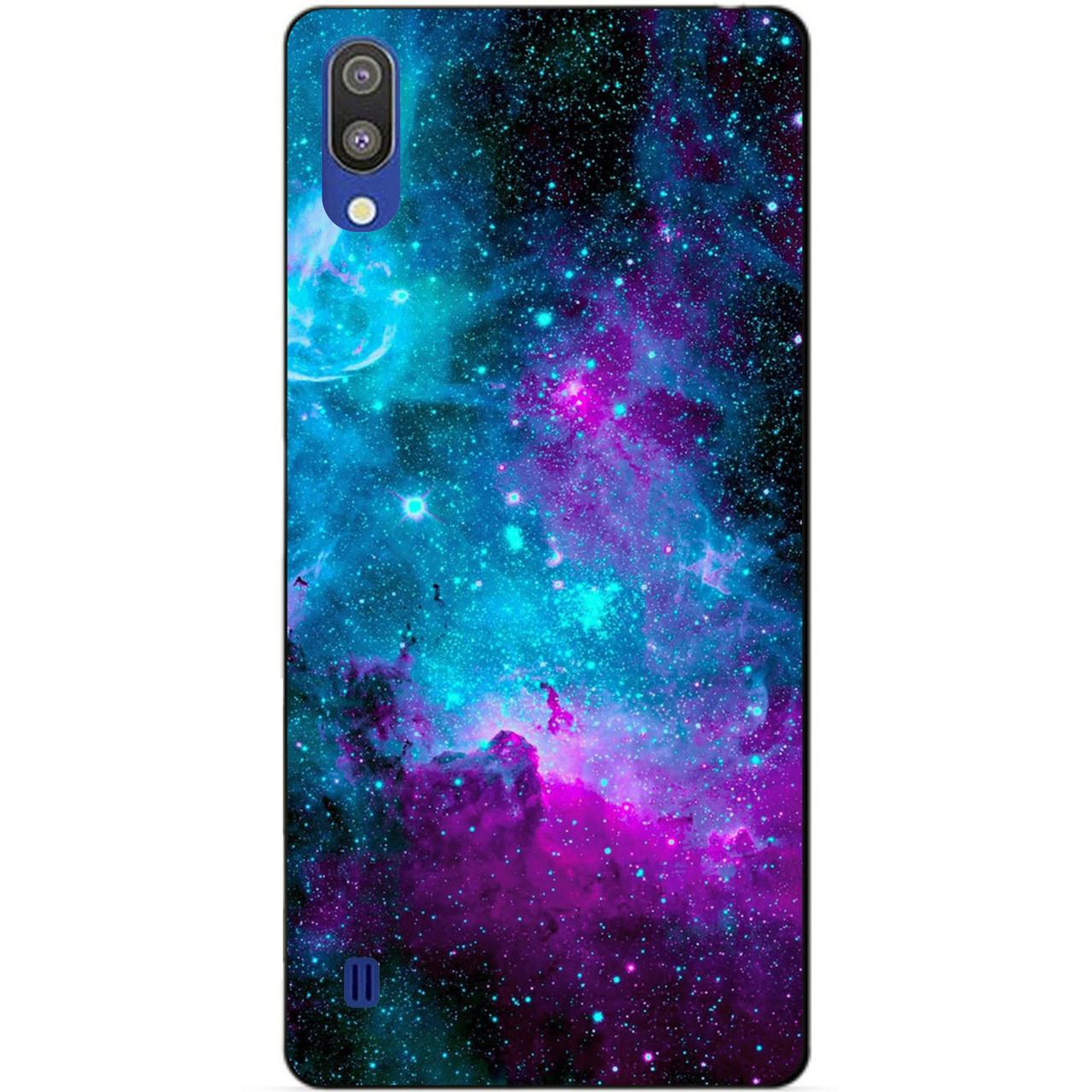 Чехол силиконовый для Samsung M10 2019 Galaxy M105f с рисунком Галактика