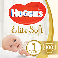 Подгузники Huggies Elite Soft 1 (0-5 кг) 100 шт.