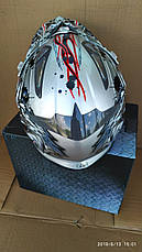Шолом для мотоцикла Hel-Met 116 кросовий сірий, фото 3