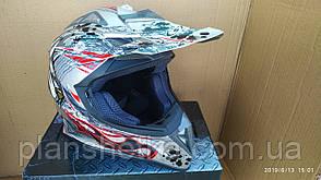 Шлем для мотоцикла Hel-Met 116 кроссовый серый