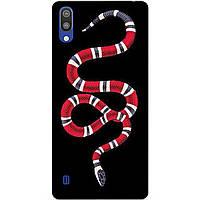 Чехол силиконовый для Samsung M10 2019 Galaxy M105f с рисунком Змея Gucci