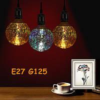 Лампа светодиодная декоративная ВТВ 3D Фейерверк G125 E27 LED ночник