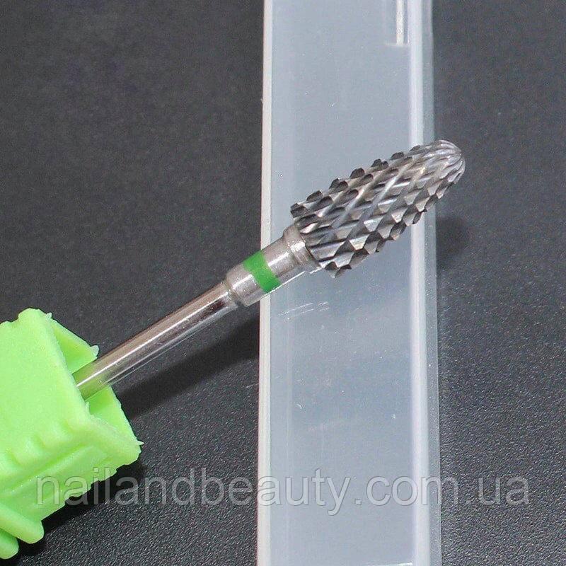 Фреза для маникюра и педикюра твердосплав вольфрам-карбида (зеленая)