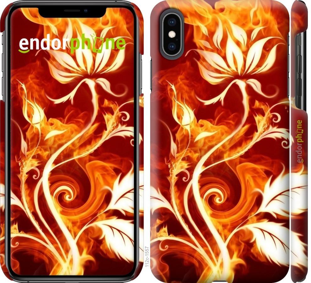 Чехол на iPhone XS Max Огненная роза