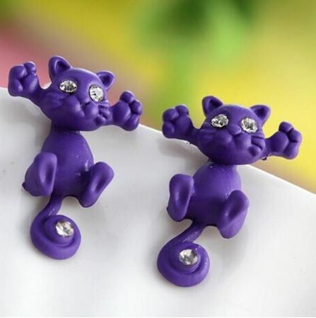 """Фіолетові сережки """"Коти"""""""