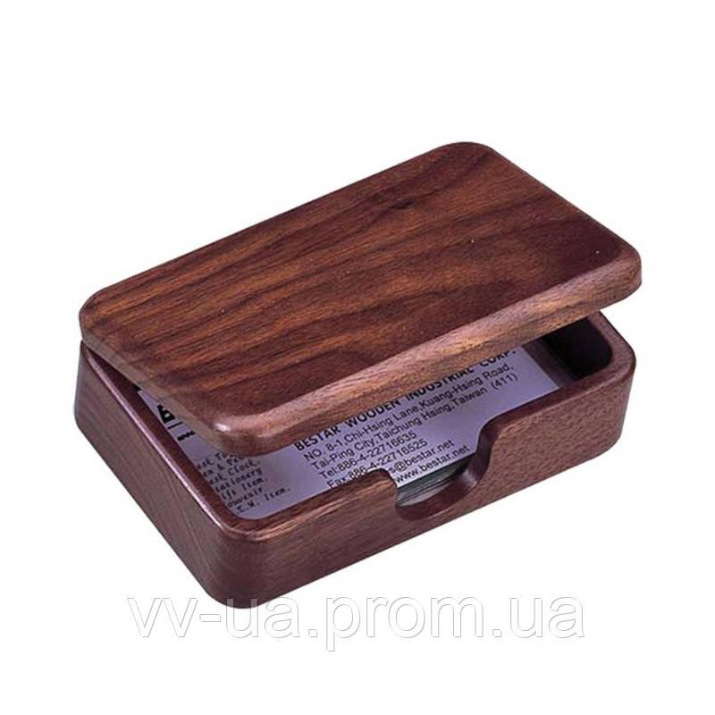 Контейнер для визиток Bestar деревянный, орех (1315WDN)