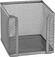 Куб для бумаги Axent, 100х100x100 мм, металлическая сетка, серебристый