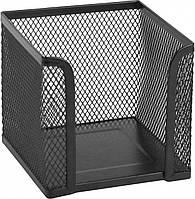 Куб для бумаги Axent, 100х100х100 мм, металлическая сетка, черный
