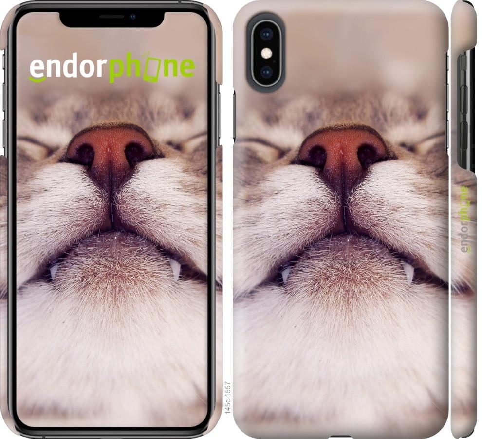 Чехол на iPhone XS Max Довольный кот