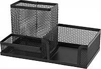 Подставка-органайзер Axent, 203x105x100 мм, металлическая, 3 отделения, черная (2116-01-A)