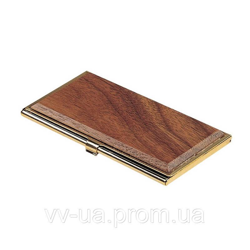 Футляр для визиток Bestar металлический, орех (1327WDN)