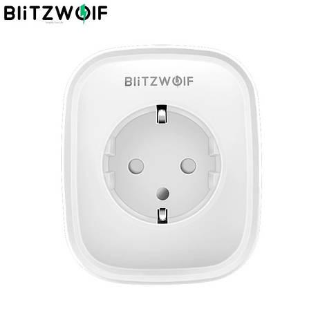 BlitzWolf BW-SHP5 WiFi умная розетка, 2 USB порта, умный дом. Мониторинг энергопотребления, фото 2