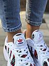 Женские кроссовки Adidas Yung белые из натуральной замши, фото 6