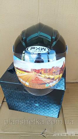 Мотошолом FXW HF-210 чорний, фото 2
