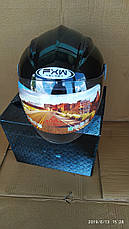 Мотошолом FXW HF-210 чорний, фото 3