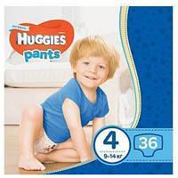 Трусики - подгузники Huggies Pants для мальчиков 4 (9-14 кг)  36 шт., фото 1