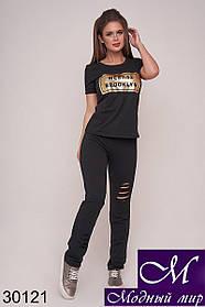 Женский летний спортивный костюм с футболкой (р. 42-44,44-46) арт. 30121