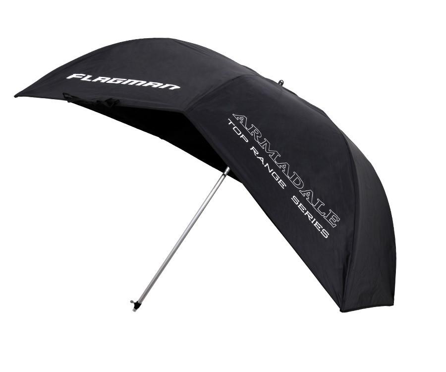 Зонт Flagman Fibreglass Flat Back Brolly 2.5 Черный (DKR060)
