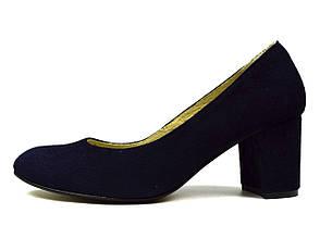 Темно-синие женские замшевые туфли SAIL на каблуке