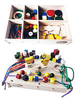 Набір Hega 3 ускладнений  ігровий розвиваючий кольоровий в коробці 46 елементів (68), фото 1