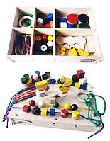 Набор Hega3 ускладнений  ігровий розвиваючий кольоровий в коробці 46 елементів (68), фото 1