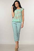 Женские укороченные брюки из костюмки Eypril (42–52р) в расцветках, фото 1