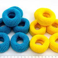Резинки желто-синие большие, 2 шт