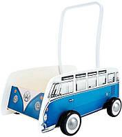 """Толкач """"Классический автобус"""", синий (E0381)"""