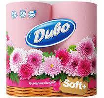 Бумага туалетная Диво Soft 2 слоя 4 рулона Розовая