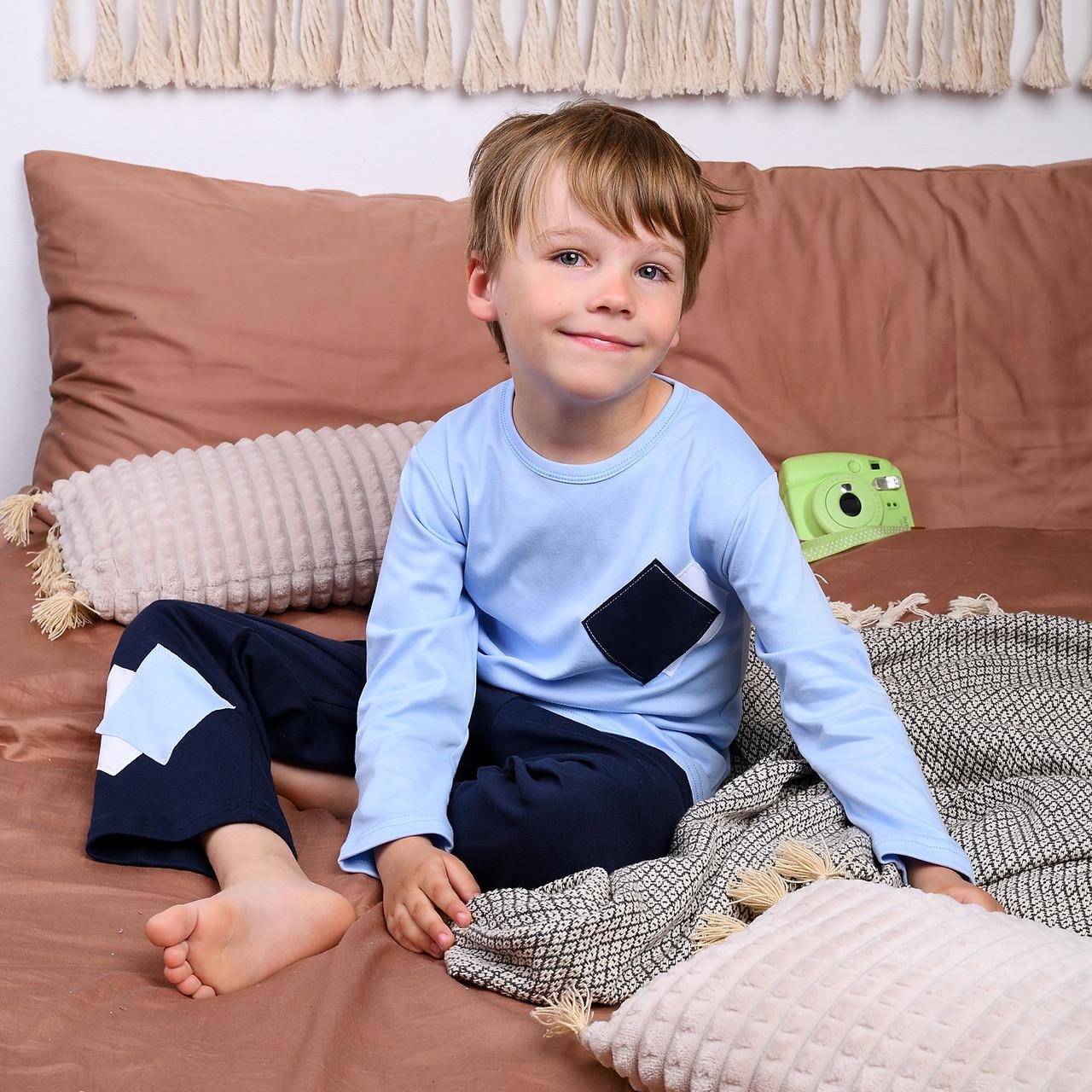 Детская пижама для мальчика (футболка с длинным рукавом + штаны) Интерлок |  Дитяча піжама для хлопчика